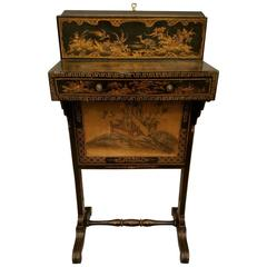 English Chinoiserie Decorated Fireside Table