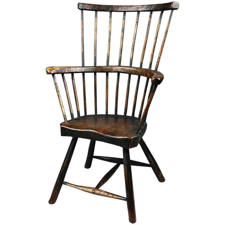 Chippendale side chair - 18th Century Primitive Comb Back Windsor Chair Is No Longer Available