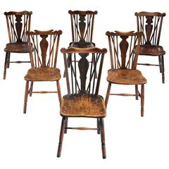Matched Set of Six Comb Back Windsor Chairs