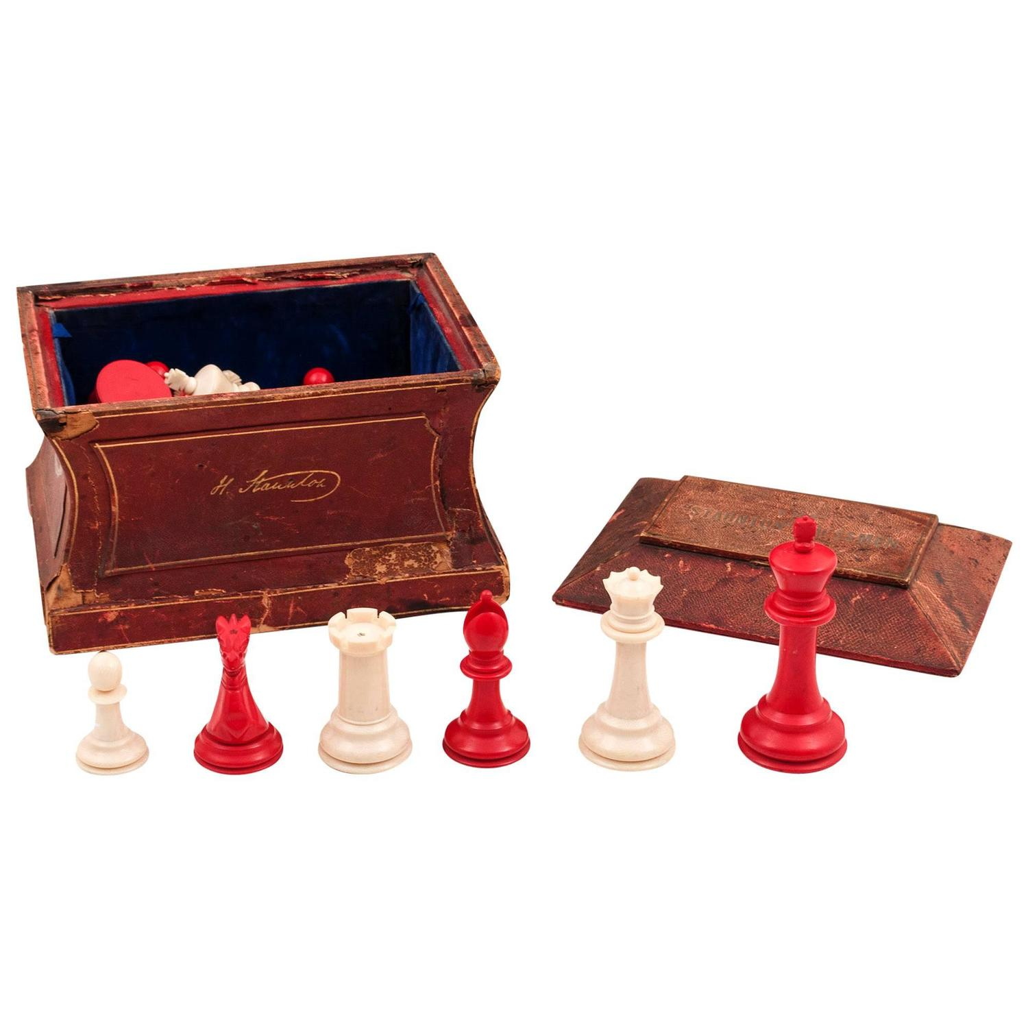 Large Jacques Staunton Chess Set For Sale At 1stdibs