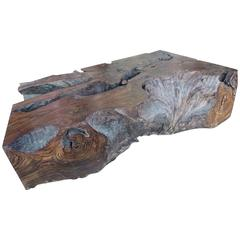 Important Free-Form Palisander Root Coffee Table with Exceptional Patina