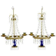 Pair of Swedish Gustavian Style Candelabra