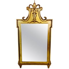 20th Century French Regent Style Carved Gilt Wood Mirror