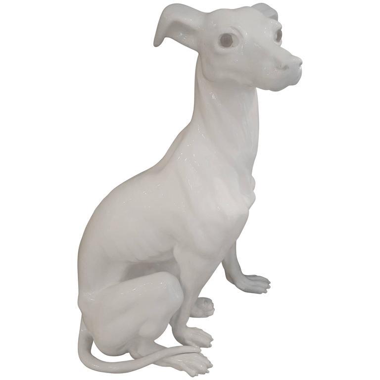 Lifesize 1940s Ceramic Italian Greyhound For Sale