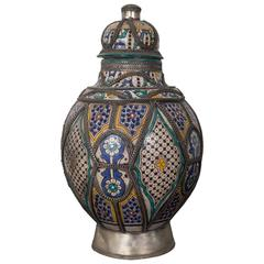 Antique Moroccan Urn, from Fez