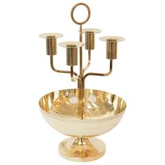Tommi Parzinger Brass Candelabrum