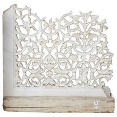 White Marble Jali Screen Fragment