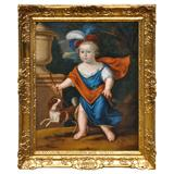 """Late 17th Century Baroque Court Portrait, Possibly of """"Louis, Dauphin"""""""