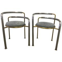 Pair of Rare and Chic Modernist French Chairs