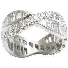 Art Deco Diamond and Platinum Eternity Band