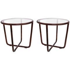 Pair of Joaquim Tenreiro Round Side Tables