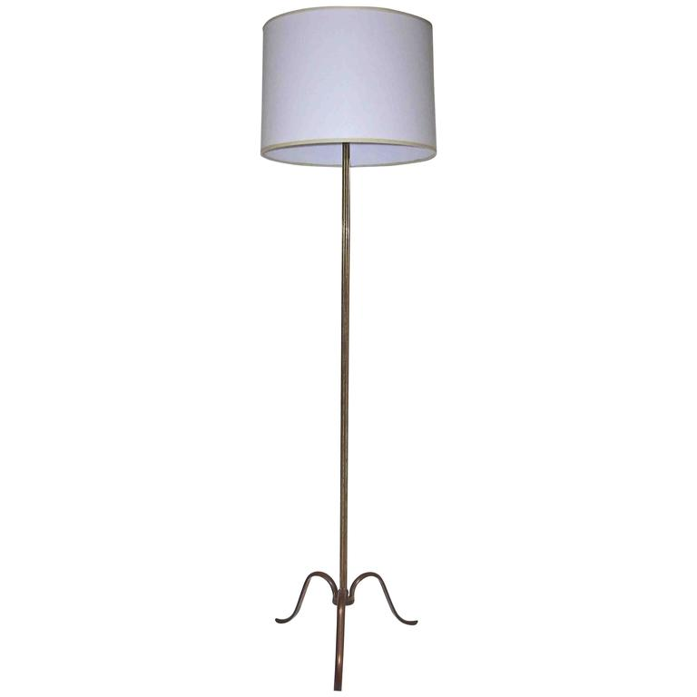 French Tripod Brass Floor Lamp For Sale At 1stdibs