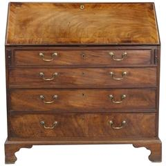 Georgian Mahogany Drop Front Bureau Chest Desk