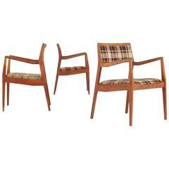 Jens Risom 'Playboy' Armchairs, Set of Three