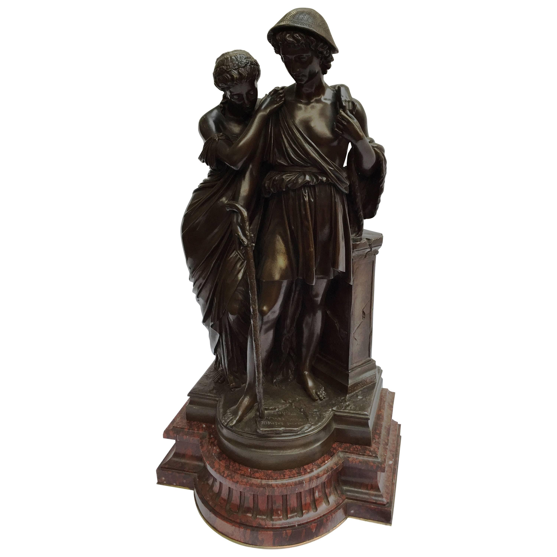 Shepherds of Arcadia, Barbedienne Bronze, 19th Century