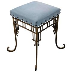 French Gold Leaf Iron Bench