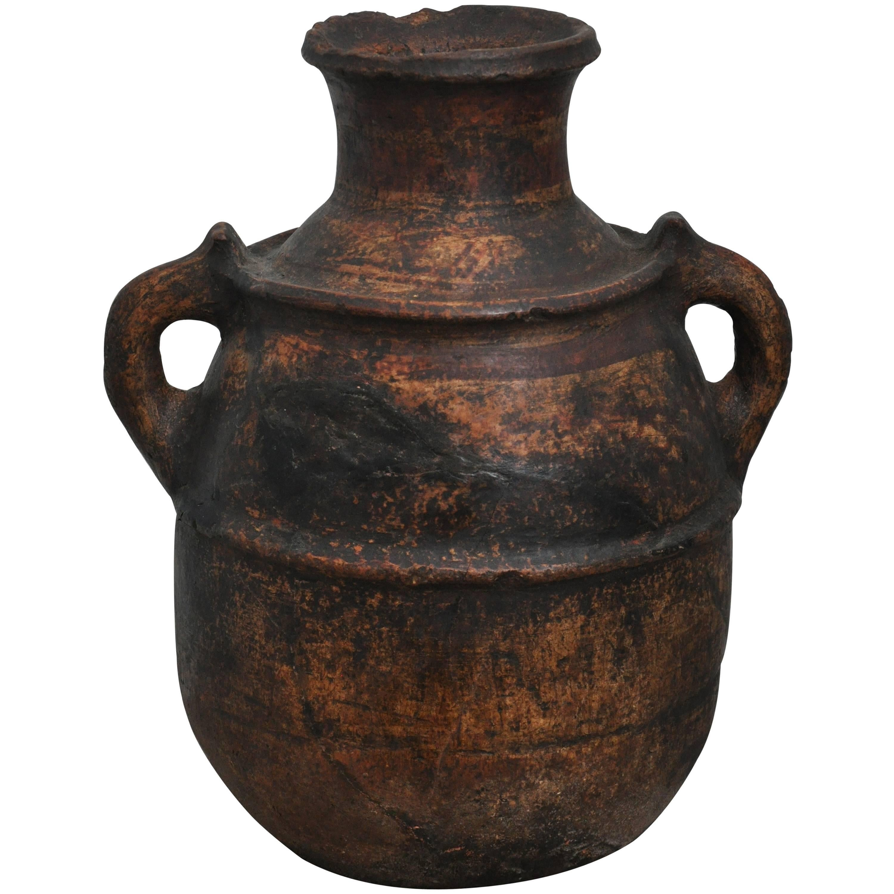 Late 19th Century Primitive Spanish Clay Pot