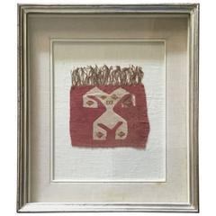 Pre Colombian Antique Peruvian Textile Fragment