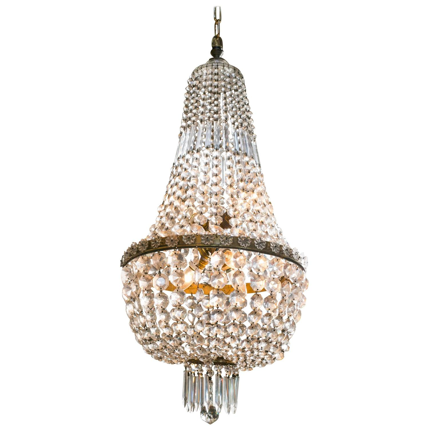 Classic Empire Style Crystal Chandelier For Sale At 1stdibs