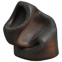 20th Century Smashed Brown Pot