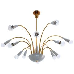 Botanical 1960s Chandelier from Italy