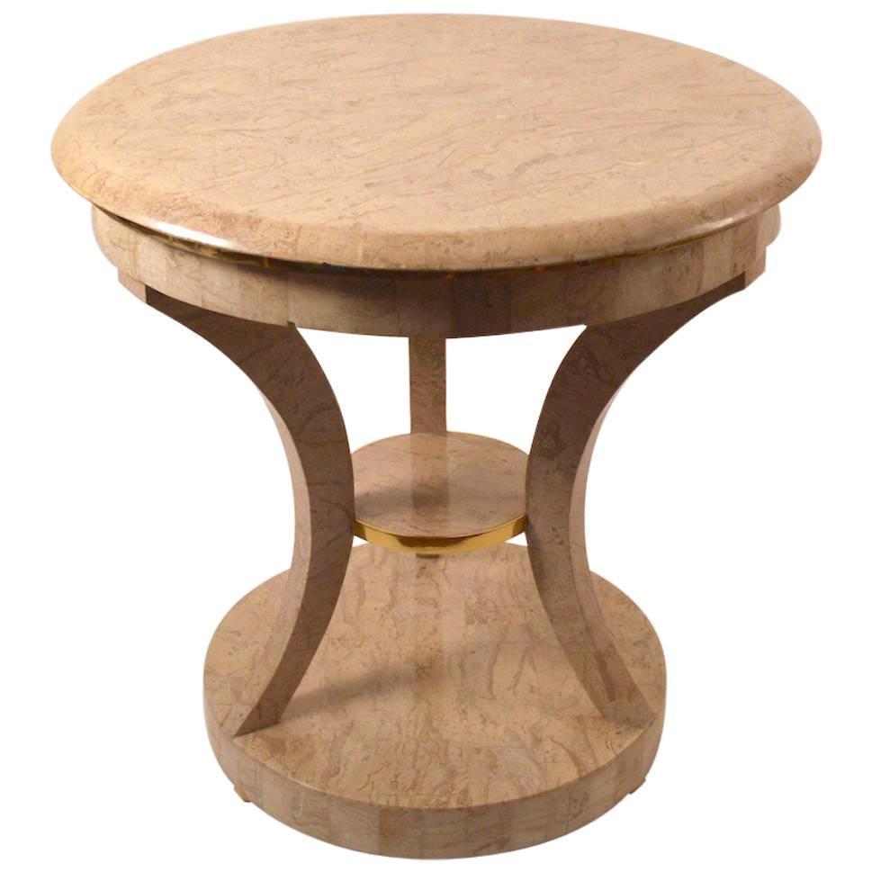 Maitland Smith Tessellated Stone Table
