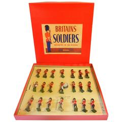 Full Band of the Coldstream Guards in Original Box, by Britains Ltd., UK, 1949