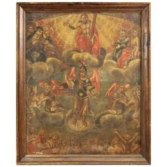 18th Century Spanish Religious Oil on Canvas Painting