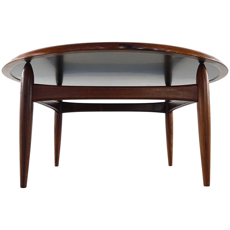 Rosewood And Formica Reversible Top Coffee Table Attribute To Finn Juhl For