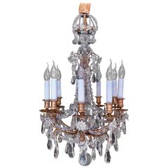 French Small Louis XIV Style Gilt Bronze and Crystal Chandelier, circa 1850