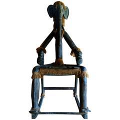 Large Elephant Man Rocking Chair Balinese Indonesian Unusual Armchair