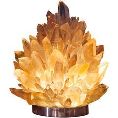 Unique Rock Crystal Lighting, Big Rose Liberty Quartz, Demian Quincke