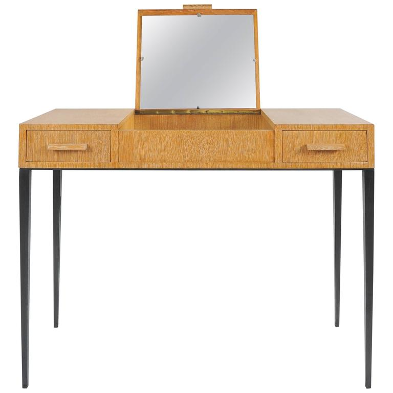 Jean Michel Frank Oak And Iron Dressing Table Interpreted By Comte For