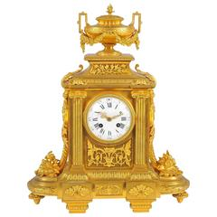 French Mantel Clock, Louis XVI style, 19th Century