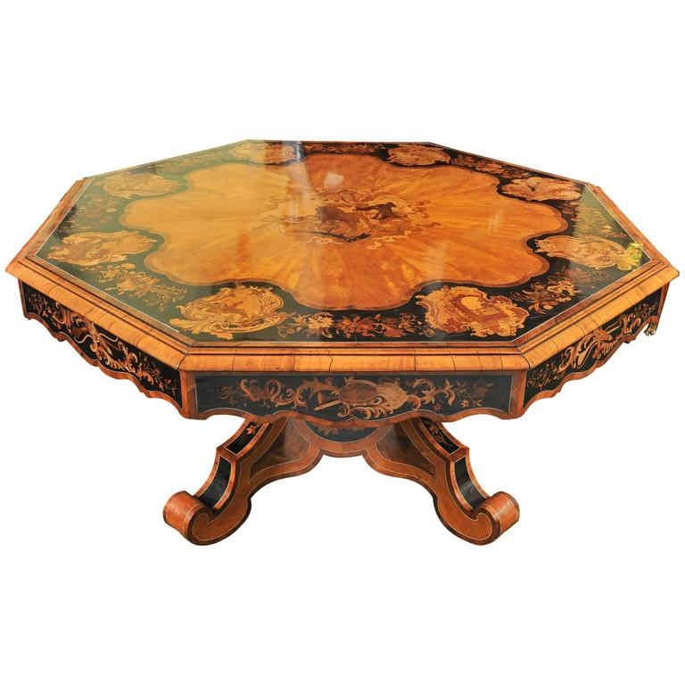 Rare, 19th Century Center Table, after Edward Holmes Baldock