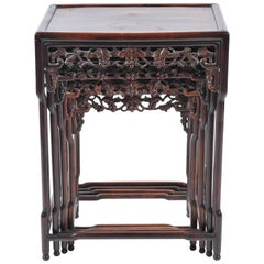 19th Century Chinese Hardwood Nest of Tables