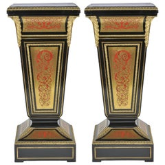Pair of 19th Century Boulle Pedestals