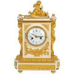 19th Century French Mantel Clock, Louis XVI style, by Festeau, Paris