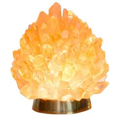 "Natural Amber Quartz Lighting - ""Small Liberty"", Demian Quincke"
