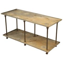 Industrial Style Steel Two-Tier Table