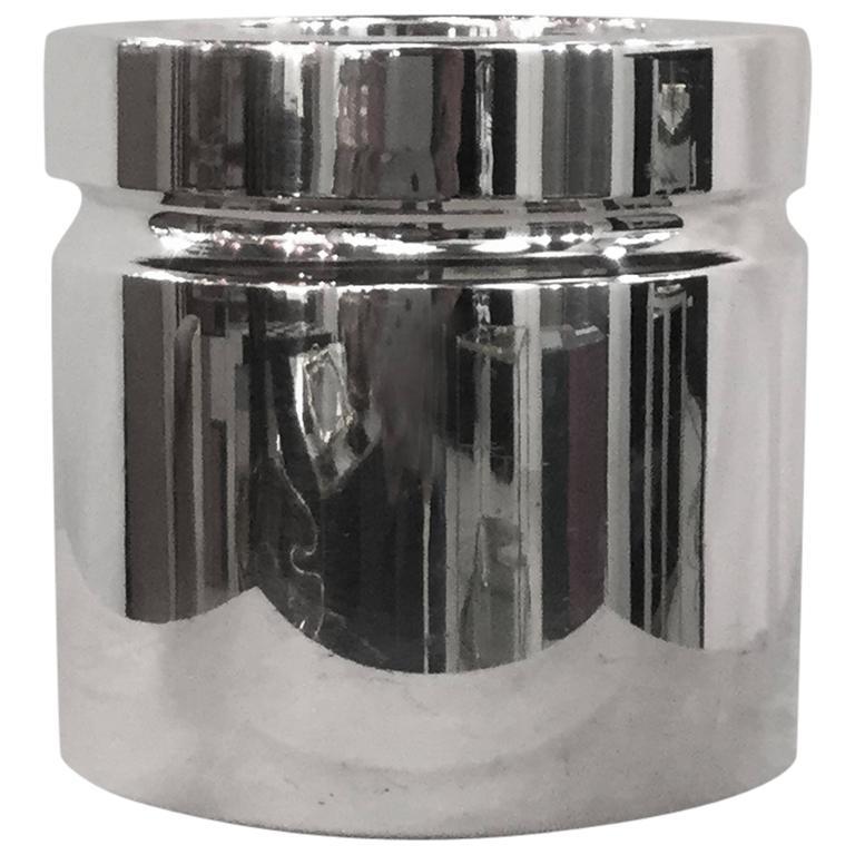 Sabattini Silver Plate Ice Bucket For Sale