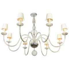 Italian Hollywood Regency Midcentury Barovier Chandelier