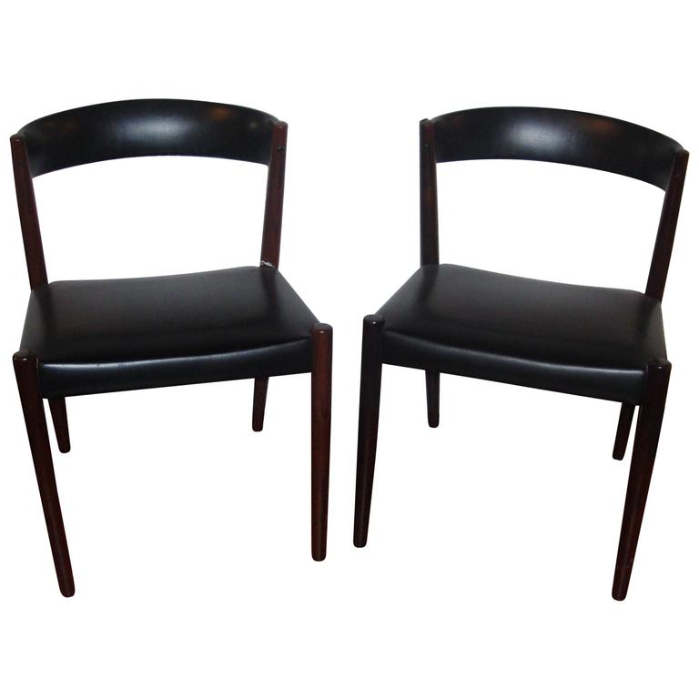 pair of custom quality danish mid century modern side chairs for sale at 1stdibs. Black Bedroom Furniture Sets. Home Design Ideas