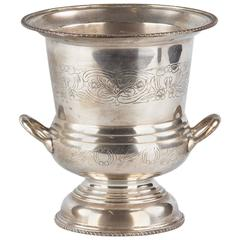 French Silver Metal Champagne Ice Bucket, 1920s