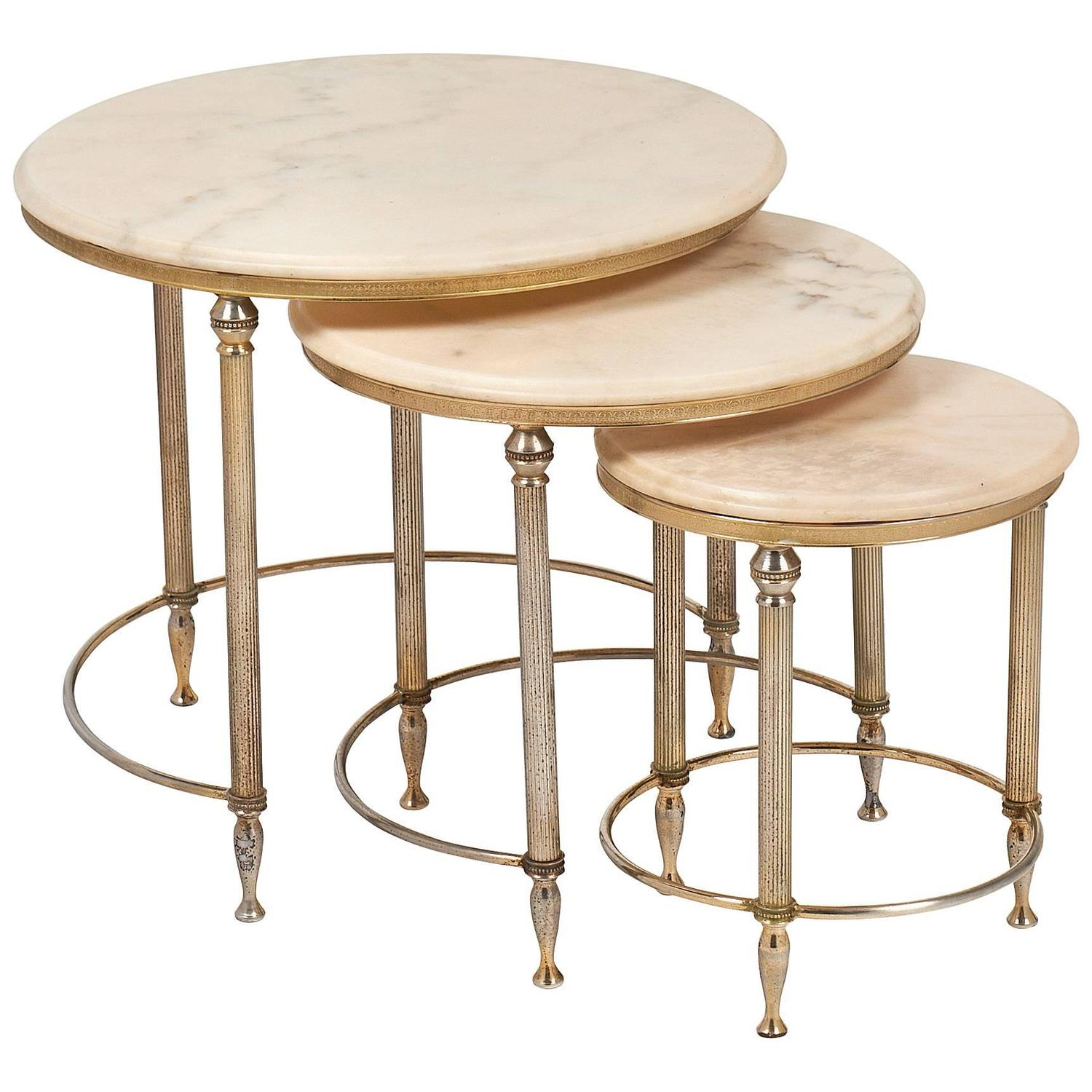 Neoclassic Set Of Three Onyx Top Bronze Nesting Tables At 1stdibs. Full resolution  portraiture, nominally Width 1500 Height 1500 pixels, portraiture with #8E6A3D.