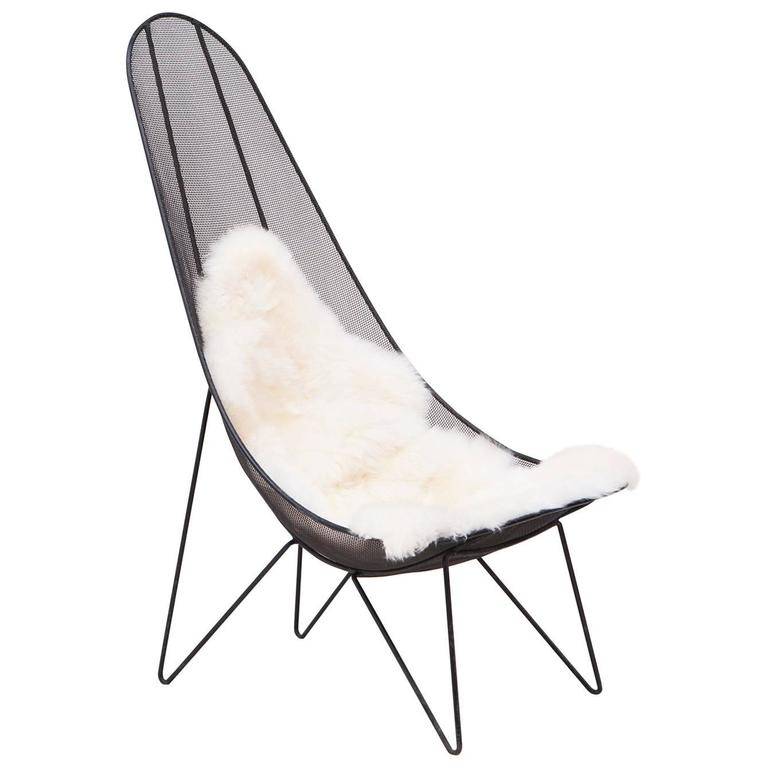 Sol Bloom Scoop High Back Mesh Lounge Chair at 1stdibs