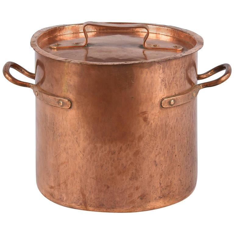 French Copper Cauldron, 19th Century For Sale