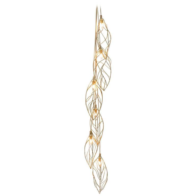 Golden Leaves Brass Pendant