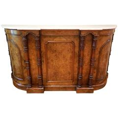 English Marble-Top Sideboard, Credenza or Buffet, Early 19th Century