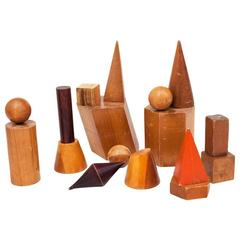 Pre-War Wooden Geometric Blocks